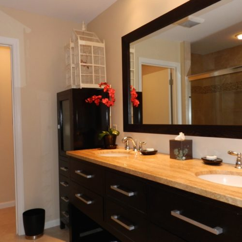 Master bathroom, twin sinks